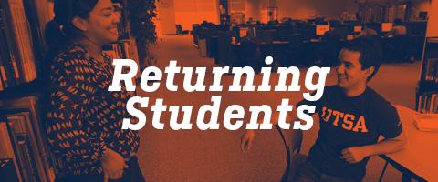 UTSA Returning Admission