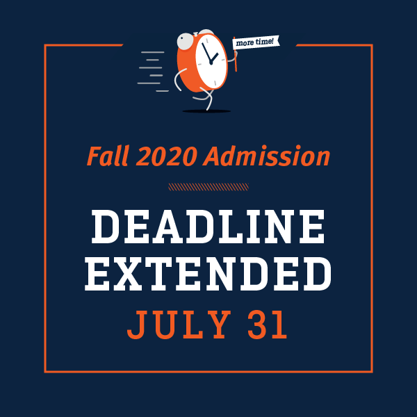 Fall 2020 App Deadline Extended to July 31