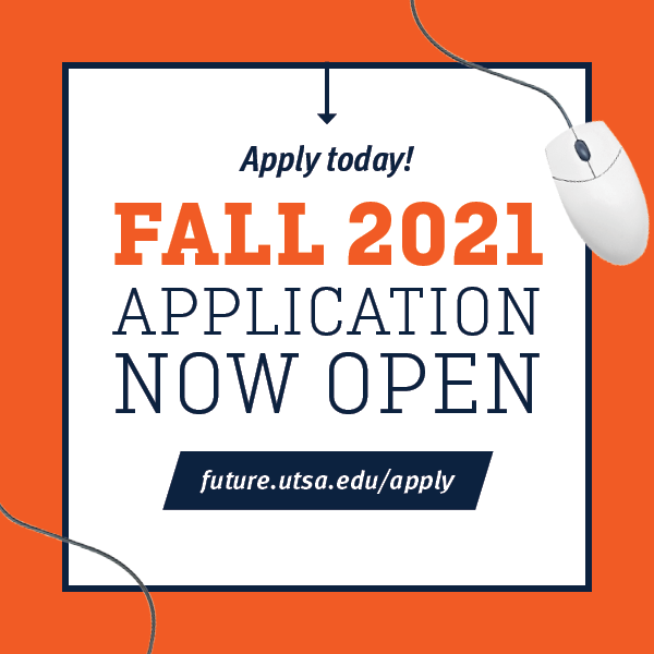 Future Roadrunners can now Apply to UTSA for Fall 2021